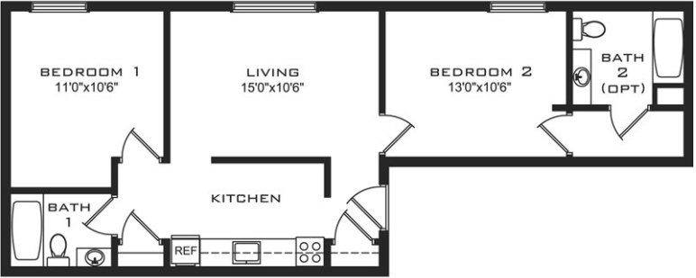 4 Bedrooms 3 Bathrooms Apartment for rent at College Station in Madison, WI