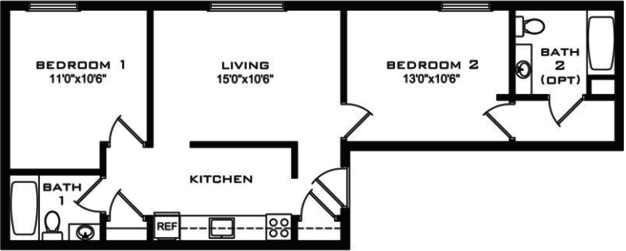 2 Bedrooms 2 Bathrooms Apartment for rent at College Station in Madison, WI
