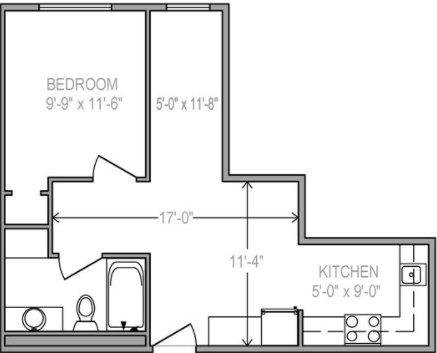 Studio 1 Bathroom Apartment for rent at LaCiel in Madison, WI