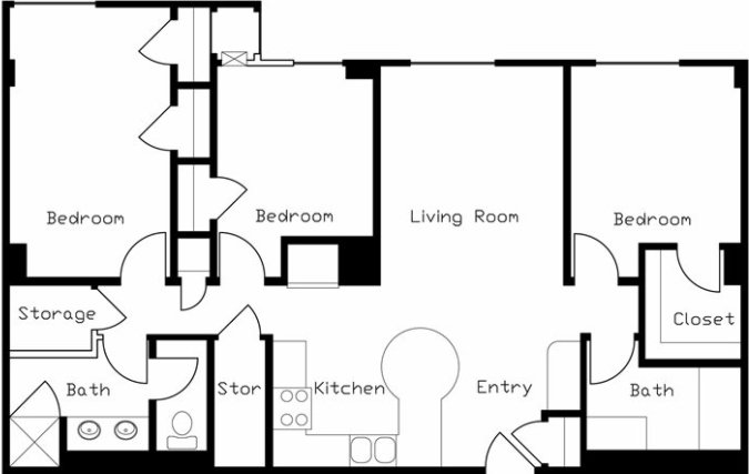 3 Bedrooms 2 Bathrooms Apartment for rent at LaCiel in Madison, WI
