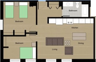 2 Bedrooms 1 Bathroom Apartment for rent at Lumen House in Madison, WI