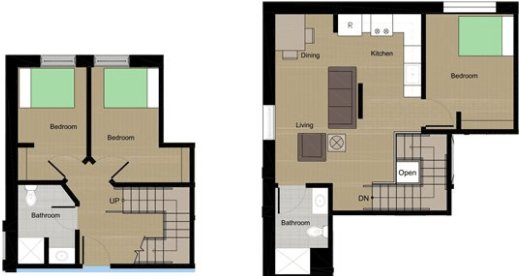 3 Bedrooms 2 Bathrooms Apartment for rent at Lumen House in Madison, WI