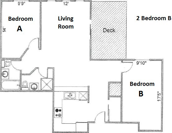 2 Bedrooms 2 Bathrooms Apartment for rent at Pres House Apartments in Madison, WI