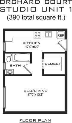 Studio 1 Bathroom Apartment for rent at Orchard Court in Madison, WI