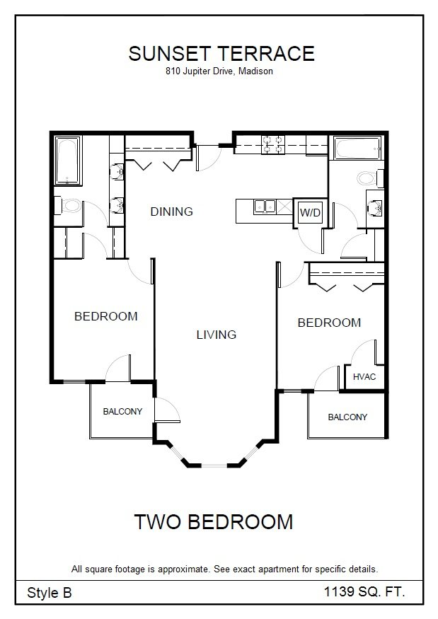 2 Bedrooms 2 Bathrooms Apartment for rent at Sunset Terrace in Madison, WI