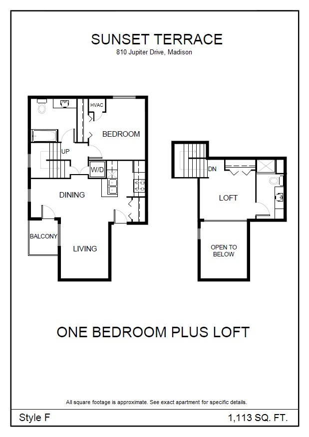 1 Bedroom 2 Bathrooms Apartment for rent at Sunset Terrace in Madison, WI
