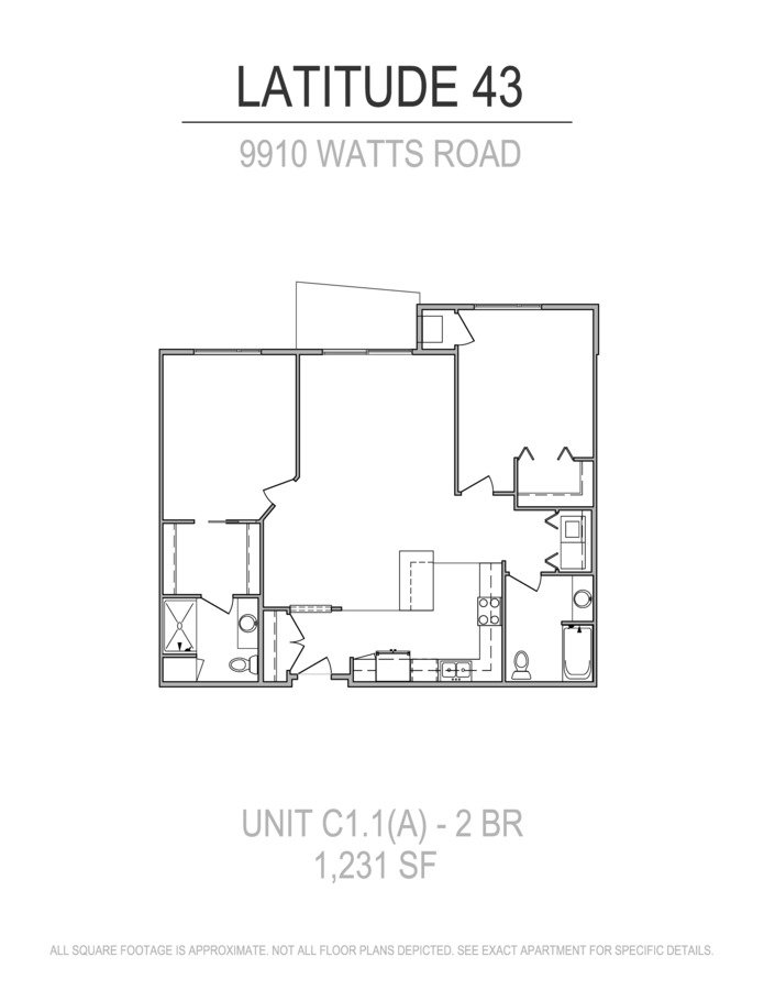 2 Bedrooms 2 Bathrooms Apartment for rent at Latitude 43 in Verona, WI