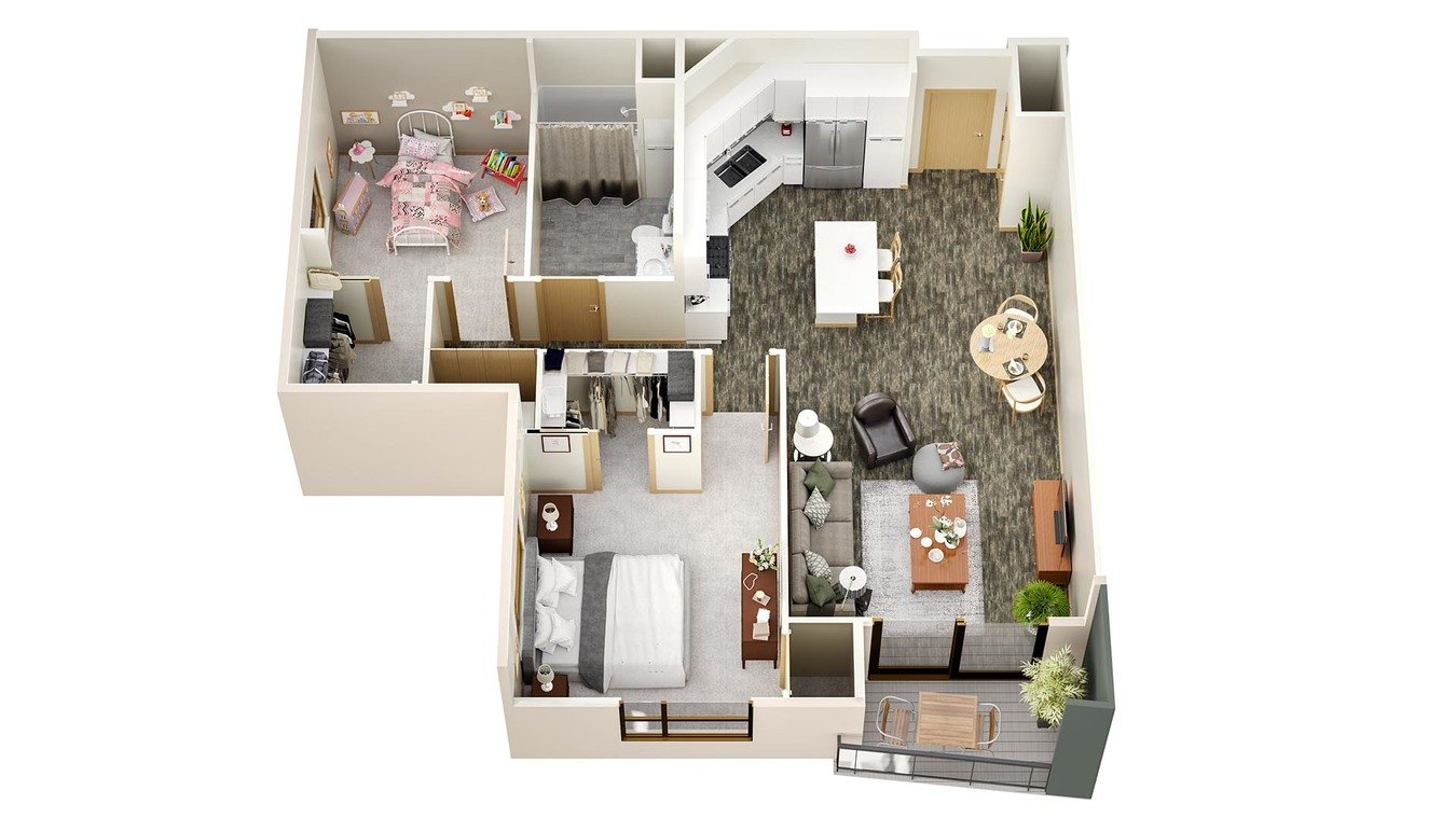 2 Bedrooms 1 Bathroom Apartment for rent at Latitude 43 in Verona, WI