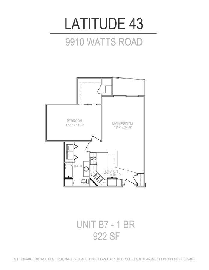 1 Bedroom 1 Bathroom Apartment for rent at Latitude 43 in Verona, WI