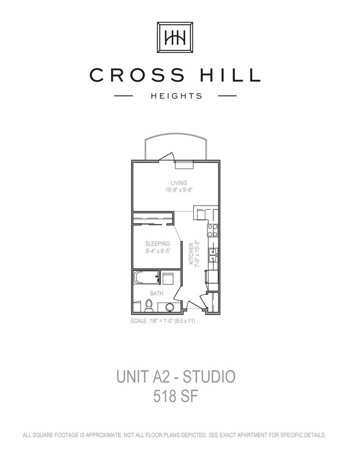Studio 1 Bathroom Apartment for rent at Cross Hill Heights in Madison, WI