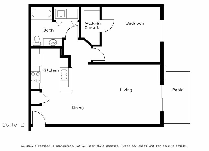 1 Bedroom 1 Bathroom Apartment for rent at Hawks Ridge in Madison, WI