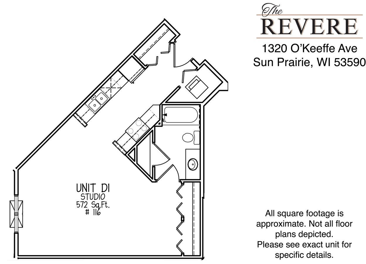 Studio 1 Bathroom Apartment for rent at The Revere at Smith's Crossing in Sun Prairie, WI