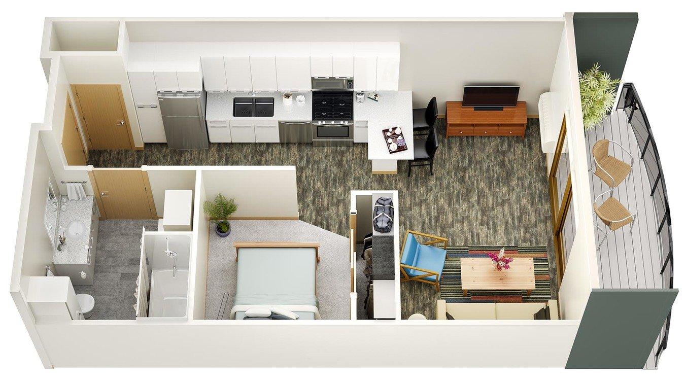 Studio 1 Bathroom Apartment for rent at Latitude 43 in Verona, WI