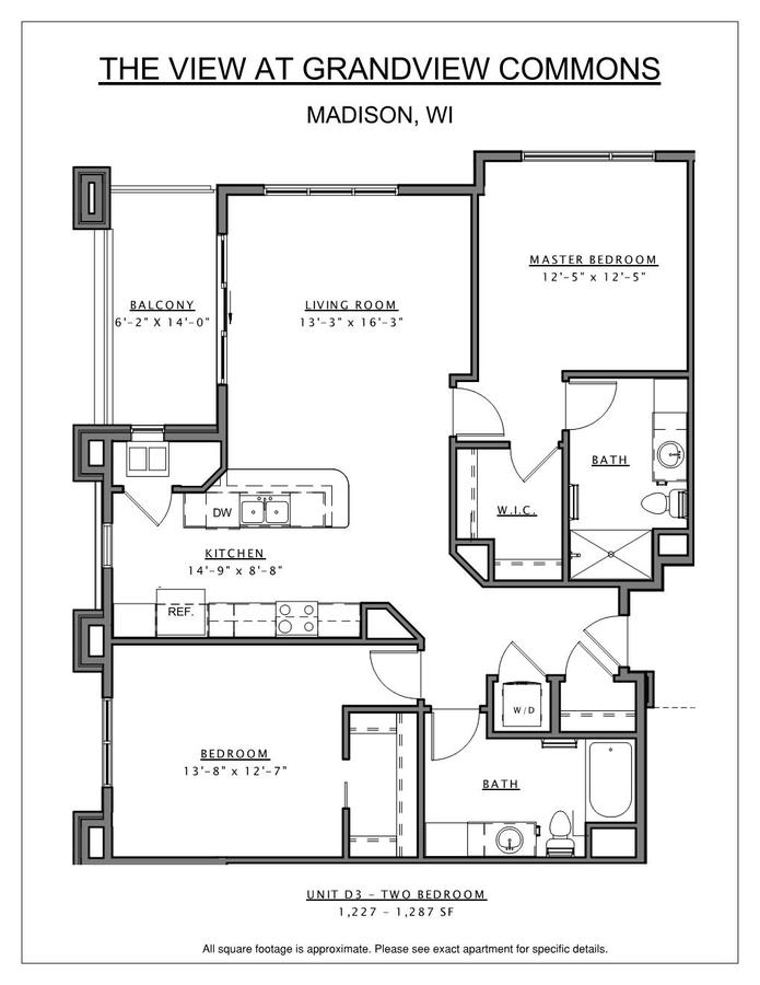 2 Bedrooms 2 Bathrooms Apartment for rent at The View At Grandview Commons in Madison, WI
