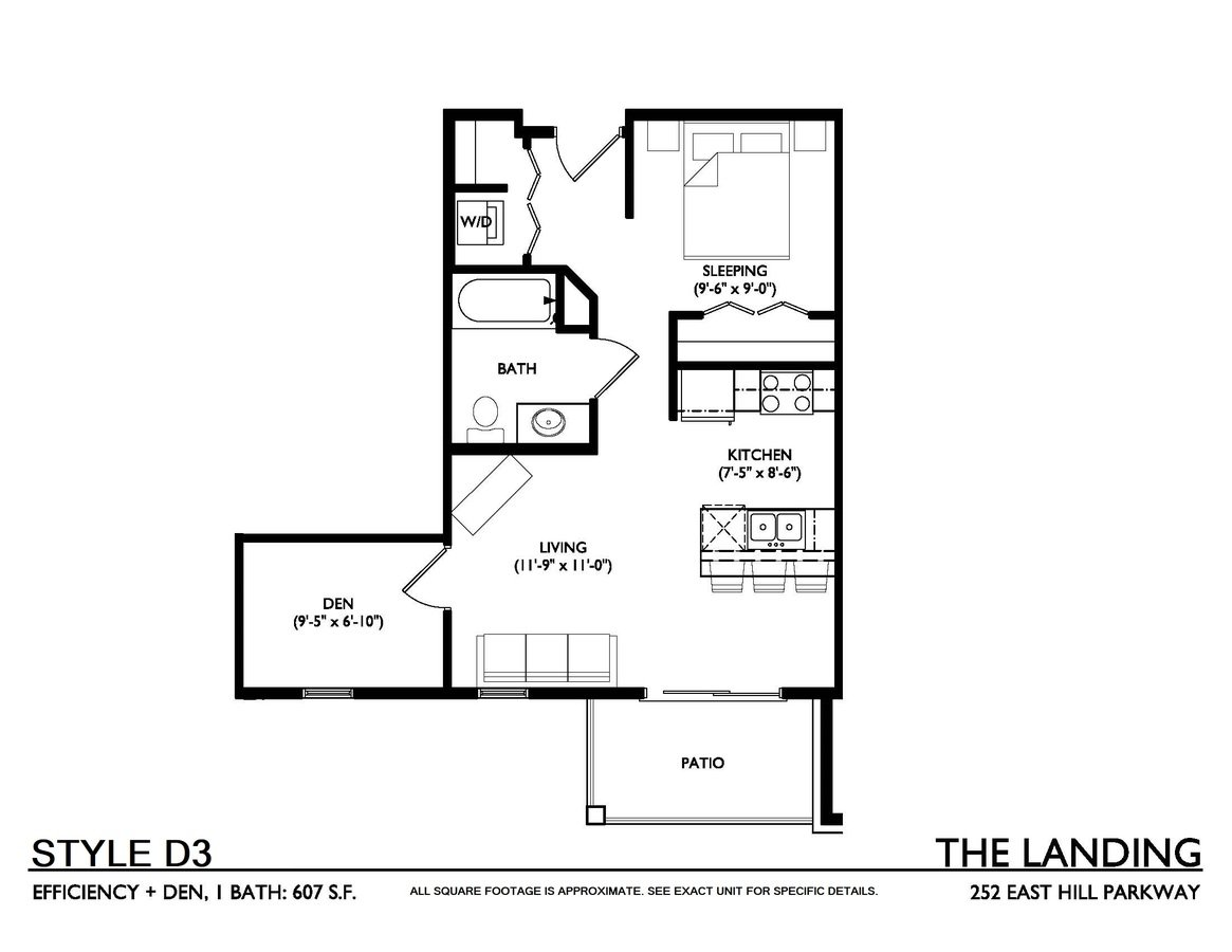 1 Bedroom 1 Bathroom Apartment for rent at The Landing on East Hill Parkway in Madison, WI
