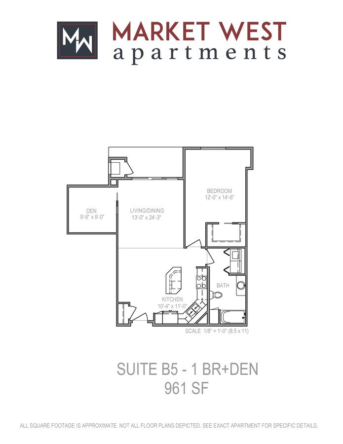 1 Bedroom 1 Bathroom Apartment for rent at Market West in Middleton, WI