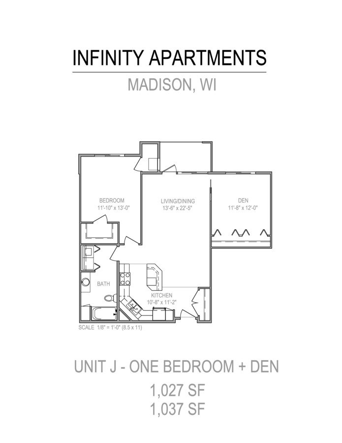 2 Bedrooms 1 Bathroom Apartment for rent at Infinity in Madison, WI