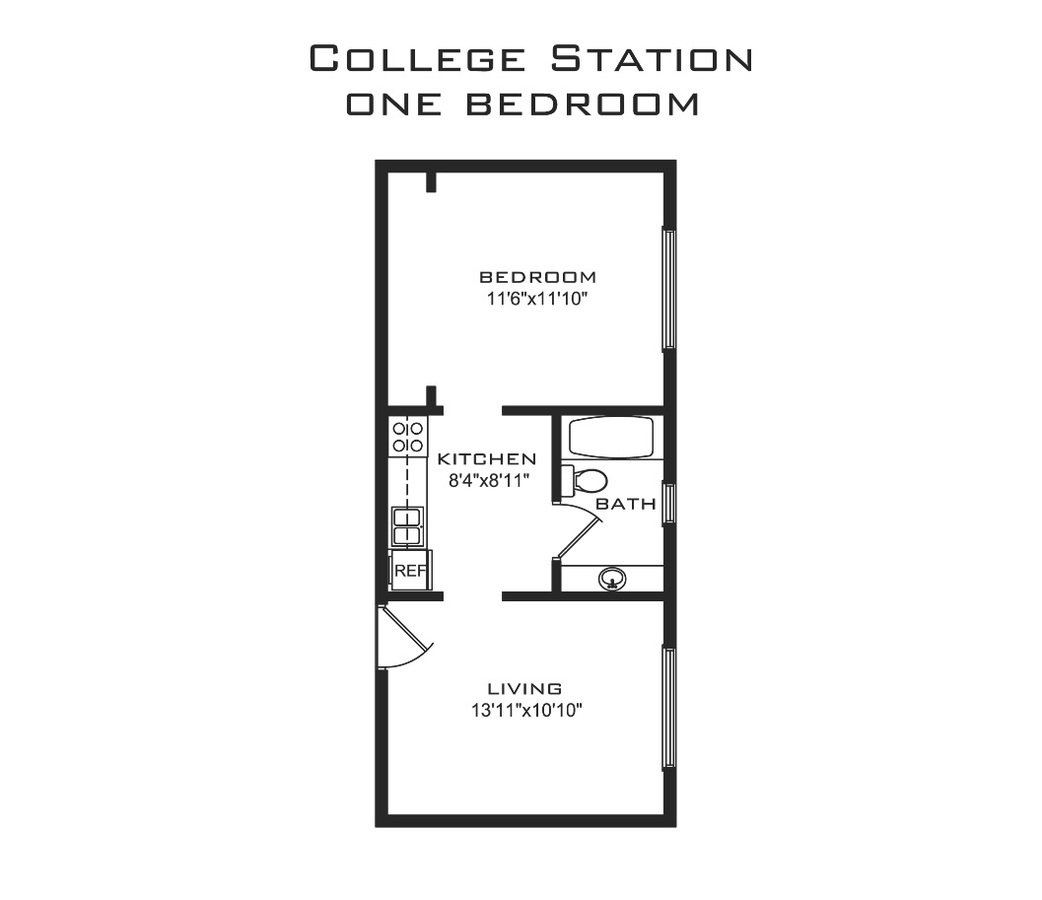 1 Bedroom 1 Bathroom Apartment for rent at College Station in Madison, WI