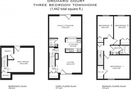 3 Bedrooms 1 Bathroom Apartment for rent at Orchard Court in Madison, WI