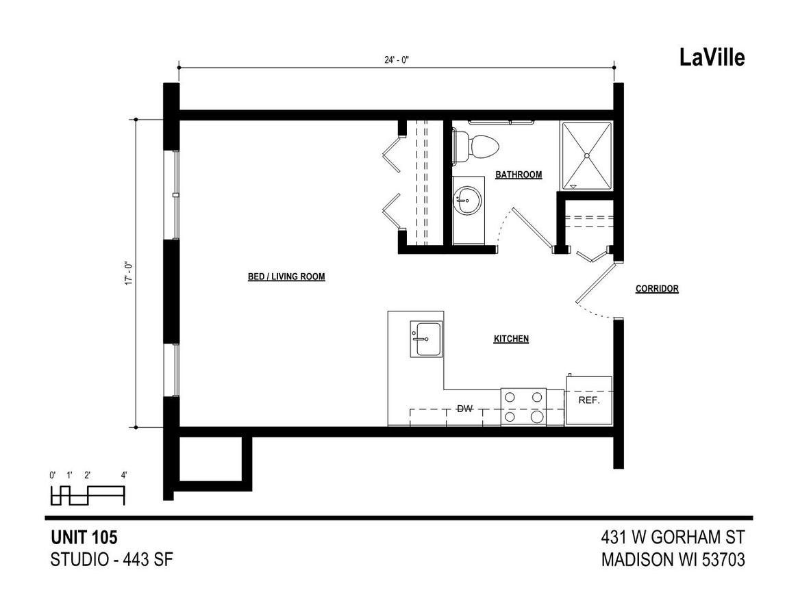 Studio 1 Bathroom Apartment for rent at LaVille in Madison, WI