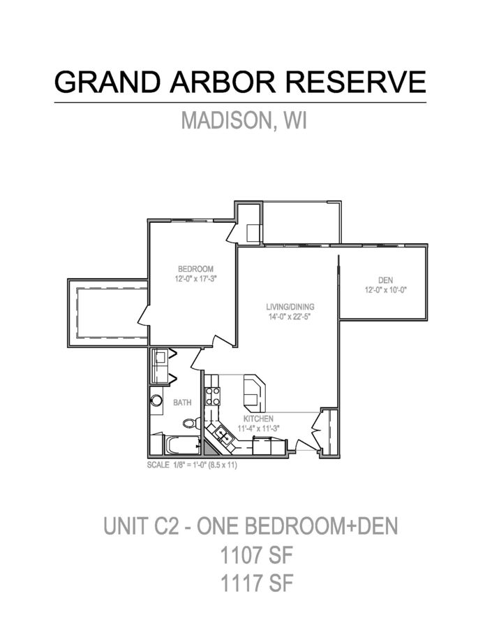 1 Bedroom 1 Bathroom Apartment for rent at Grand Arbor Reserve in Madison, WI