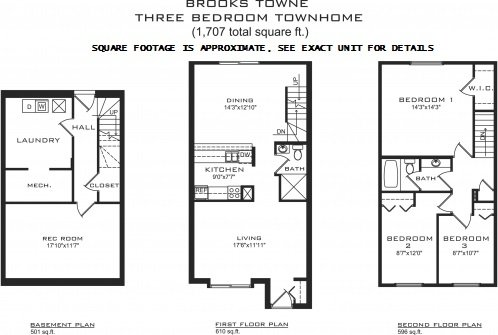 3 Bedrooms 2 Bathrooms Apartment for rent at Brooks Towne in Madison, WI
