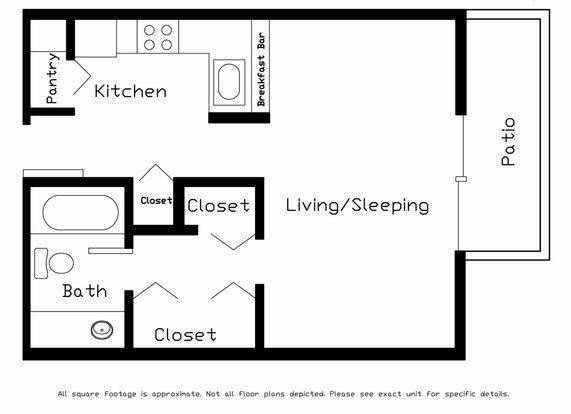 Studio 1 Bathroom Apartment for rent at Cedar Ridge in Madison, WI
