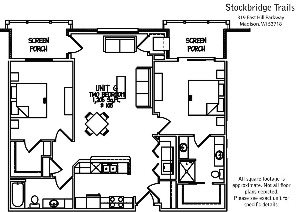 2 Bedrooms 2 Bathrooms Apartment for rent at Stockbridge Trails in Madison, WI