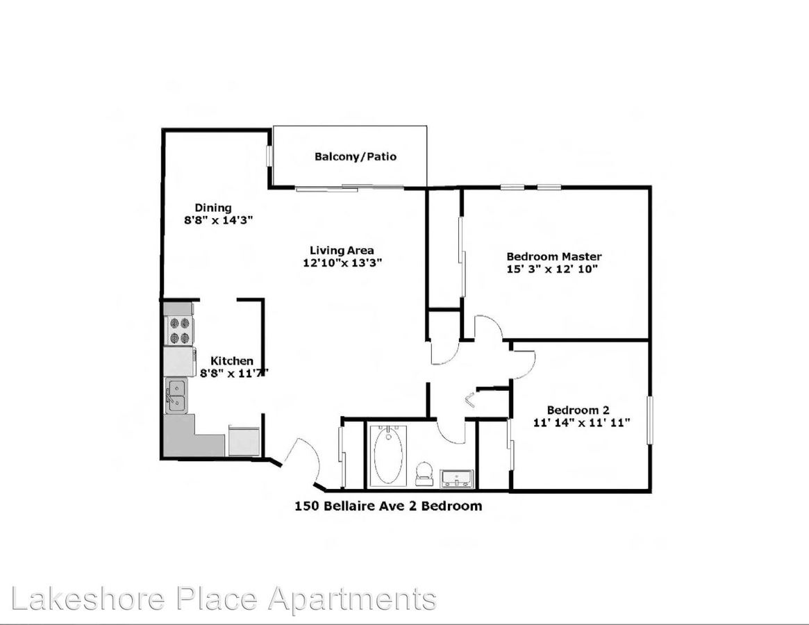 2 Bedrooms 1 Bathroom Apartment for rent at 144 Bellaire Unit 113 in Dayton, OH
