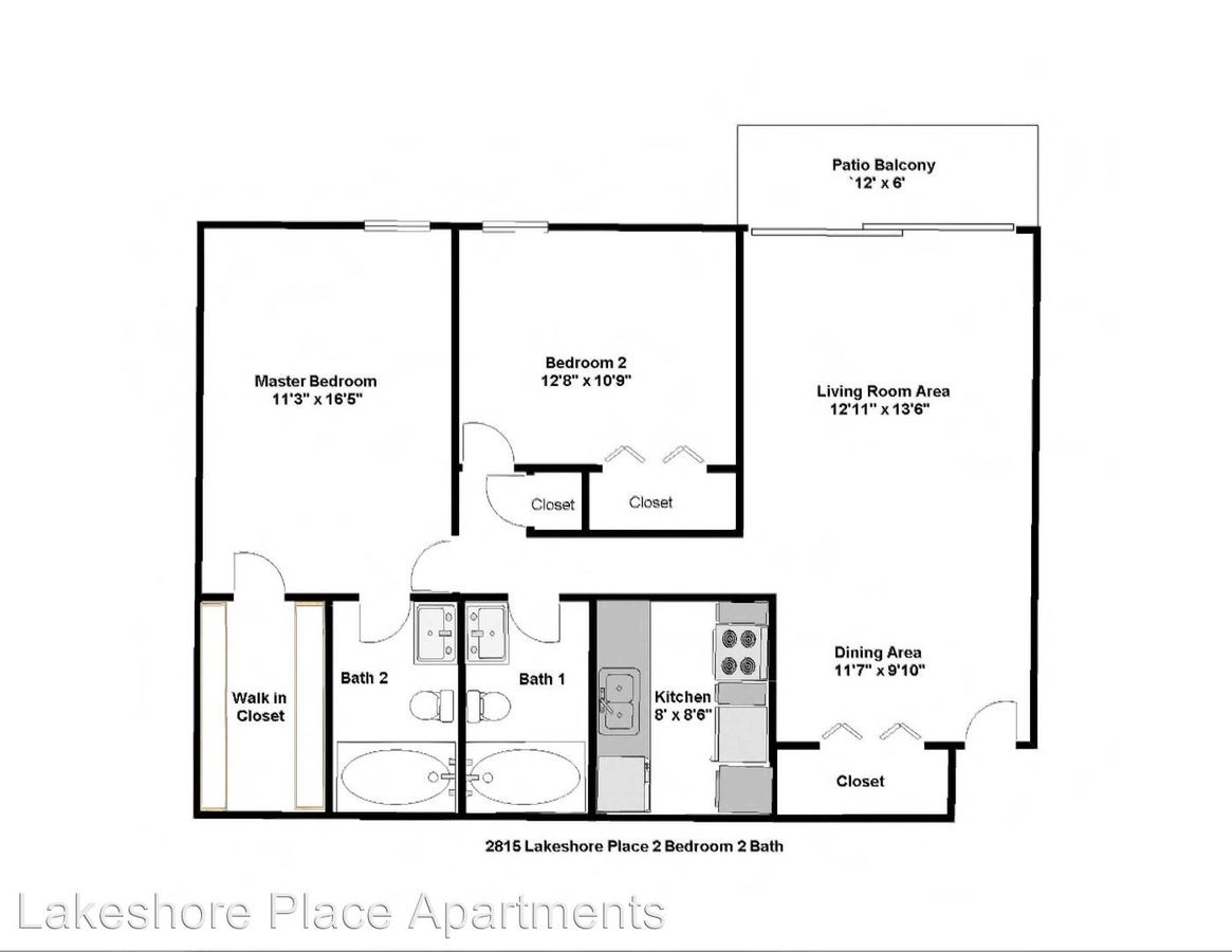 2 Bedrooms 2 Bathrooms Apartment for rent at 144 Bellaire Unit 113 in Dayton, OH