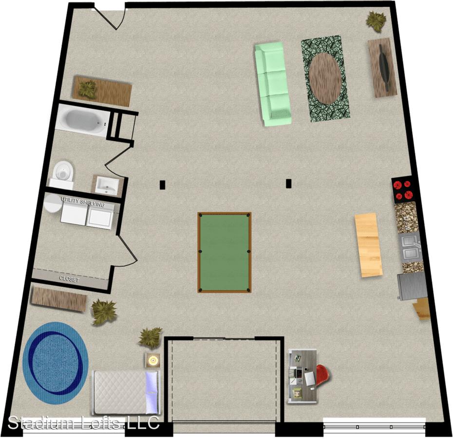 Studio 1 Bathroom Apartment for rent at 1510 Stadium Way in Indianapolis, IN