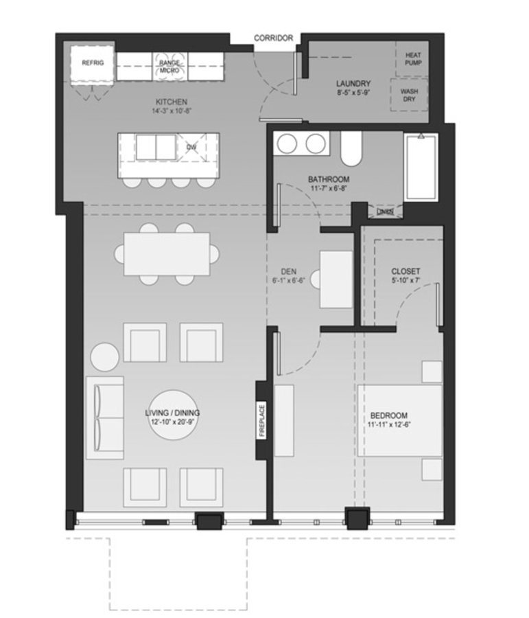 2 Bedrooms 1 Bathroom Apartment for rent at Sage On Jackson in Milwaukee, WI