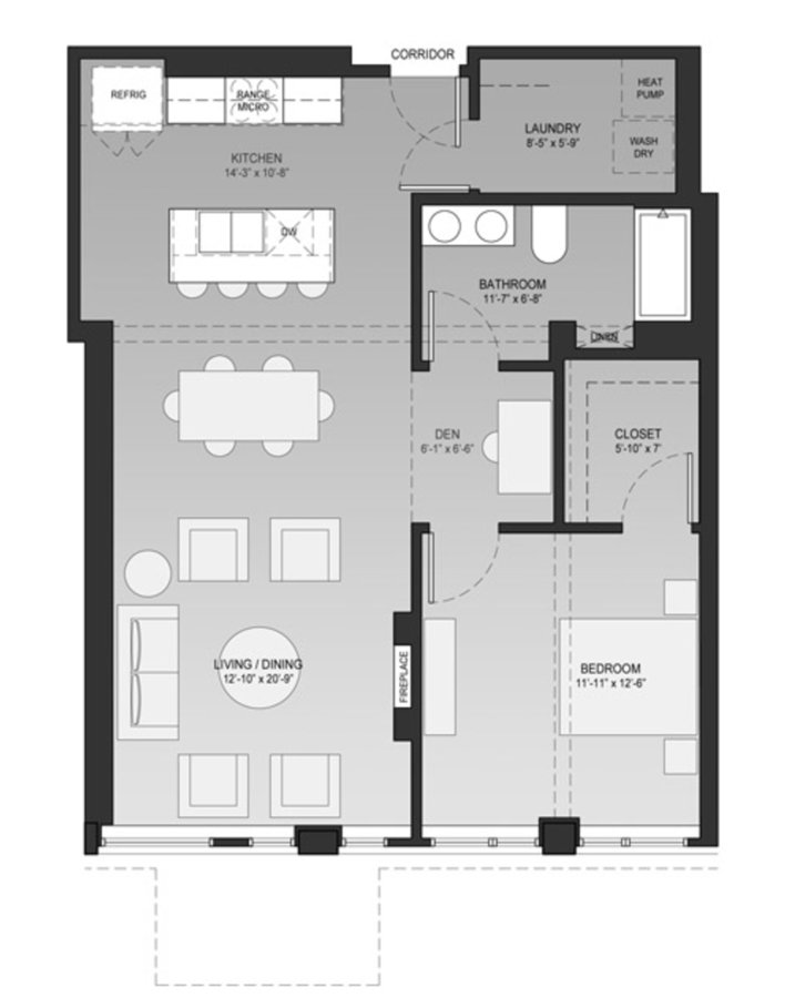 1 Bedroom 1 Bathroom Apartment for rent at Sage On Jackson in Milwaukee, WI