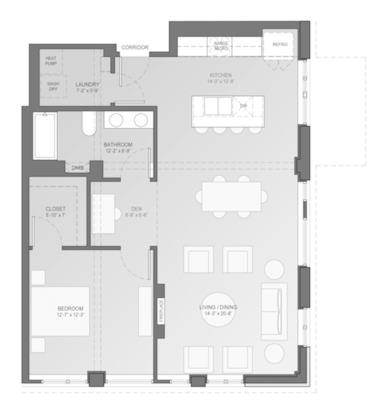 1 Bedroom 1 Bathroom Apartment for rent at Sage On Prospect in Milwaukee, WI