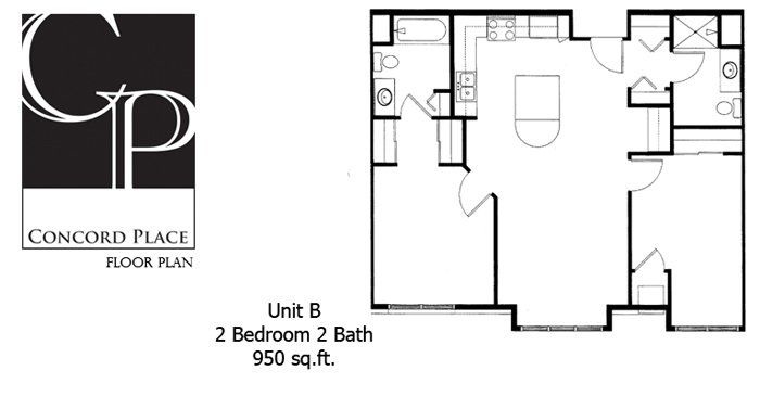2 Bedrooms 2 Bathrooms Apartment for rent at Concord Place Apartments in Oshkosh, WI