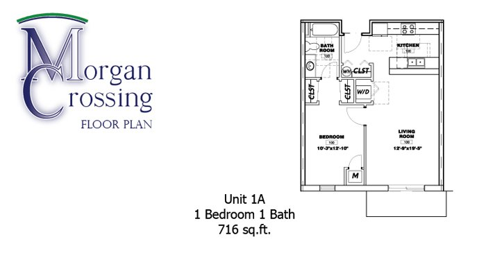 1 Bedroom 1 Bathroom Apartment for rent at Morgan Crossing Apartments in Oshkosh, WI