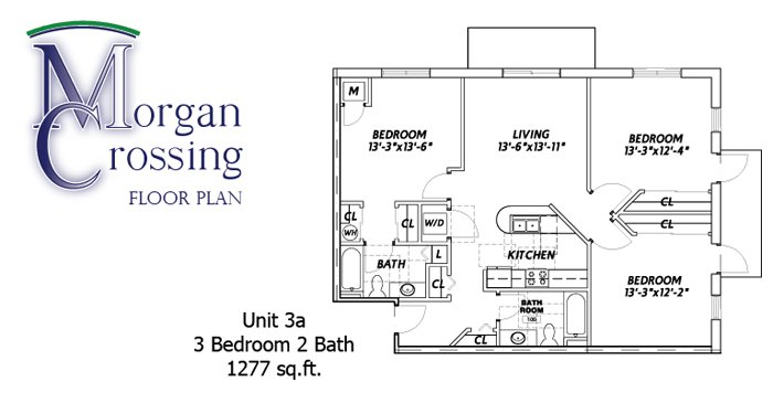 3 Bedrooms 2 Bathrooms Apartment for rent at Morgan Crossing Apartments in Oshkosh, WI