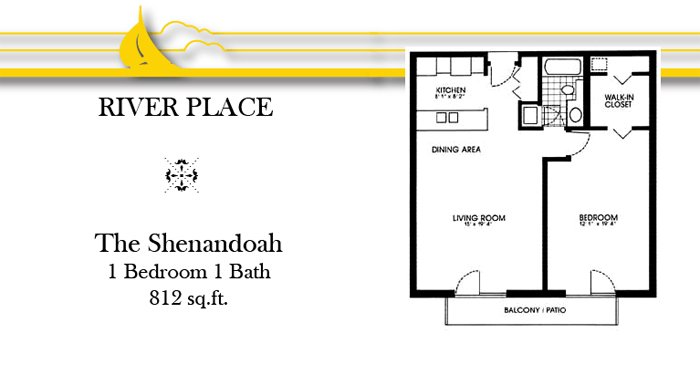 1 Bedroom 1 Bathroom Apartment for rent at River Place Apartments in Oshkosh, WI