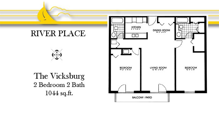 2 Bedrooms 2 Bathrooms Apartment for rent at River Place Apartments in Oshkosh, WI