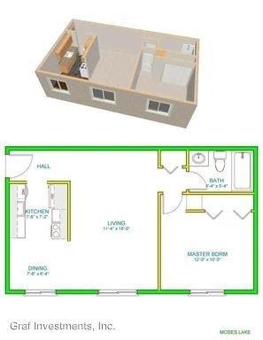 1 Bedroom 1 Bathroom Apartment for rent at Kateenah 2718 Kateenah Way in Union Gap, WA