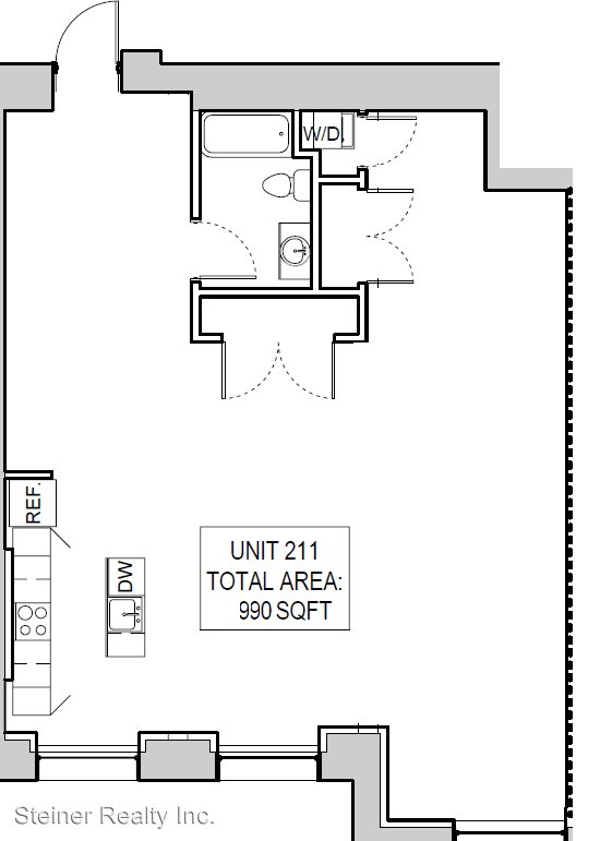 1 Bedroom 1 Bathroom Apartment for rent at 5th Ave School Lofts in Pittsburgh, PA