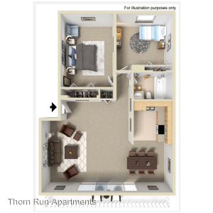 2 Bedrooms 1 Bathroom Apartment for rent at Thorn Run in Moon Township, PA