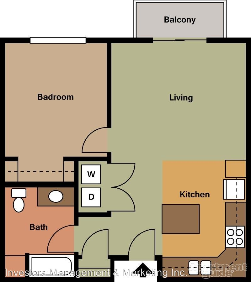 1 Bedroom 1 Bathroom Apartment for rent at 2303 Shoal Loop Se in Mandan, ND