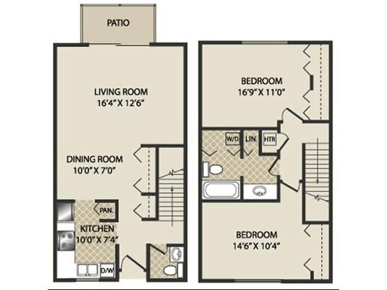 2 Bedrooms 2 Bathrooms Apartment for rent at The Pines Apartments & Townhomes in Fitchburg, WI