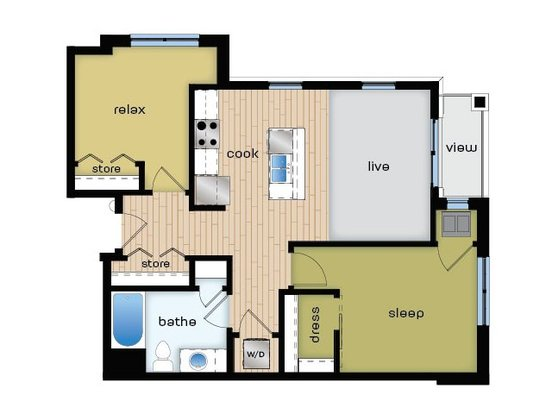 1 Bedroom 1 Bathroom Apartment for rent at Elan in Fitchburg, WI