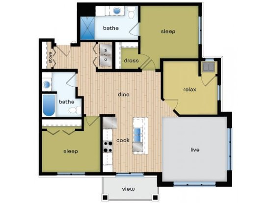 3 Bedrooms 2 Bathrooms Apartment for rent at Elan in Fitchburg, WI