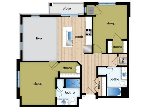 2 Bedrooms 2 Bathrooms Apartment for rent at Elan in Fitchburg, WI