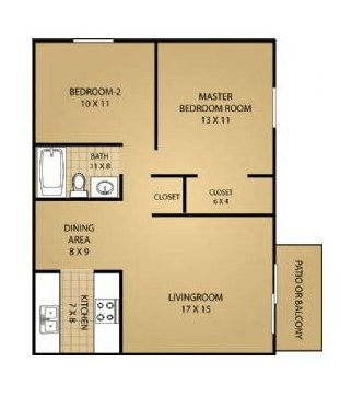 2 Bedrooms 1 Bathroom Apartment for rent at Fitchburg Square Apartments in Fitchburg, WI