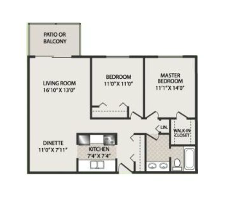 2 Bedrooms 1 Bathroom Apartment for rent at The Fairways Apartments in Fitchburg, WI