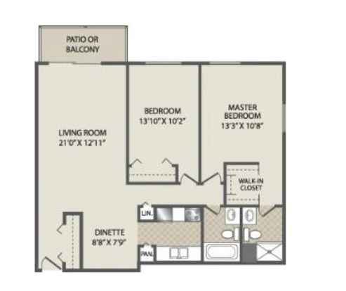 2 Bedrooms 2 Bathrooms Apartment for rent at The Fairways Apartments in Fitchburg, WI